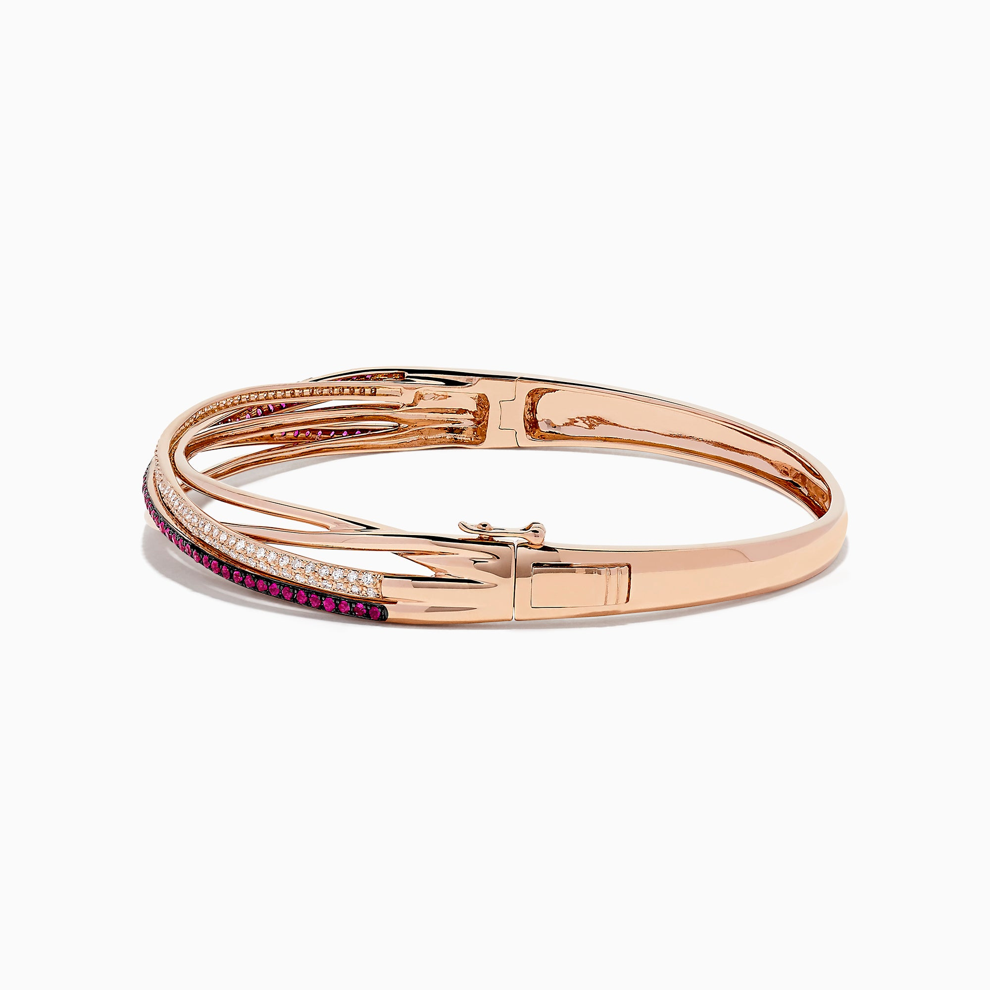 Effy Ruby Royale 14K Rose Gold Ruby and Diamond Bangle, 1.16 TCW