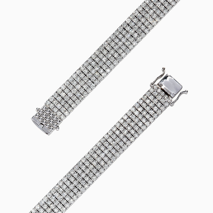 Effy Pave Classica 14K White Gold Diamond Wide Band Bracelet, 9.19 TCW