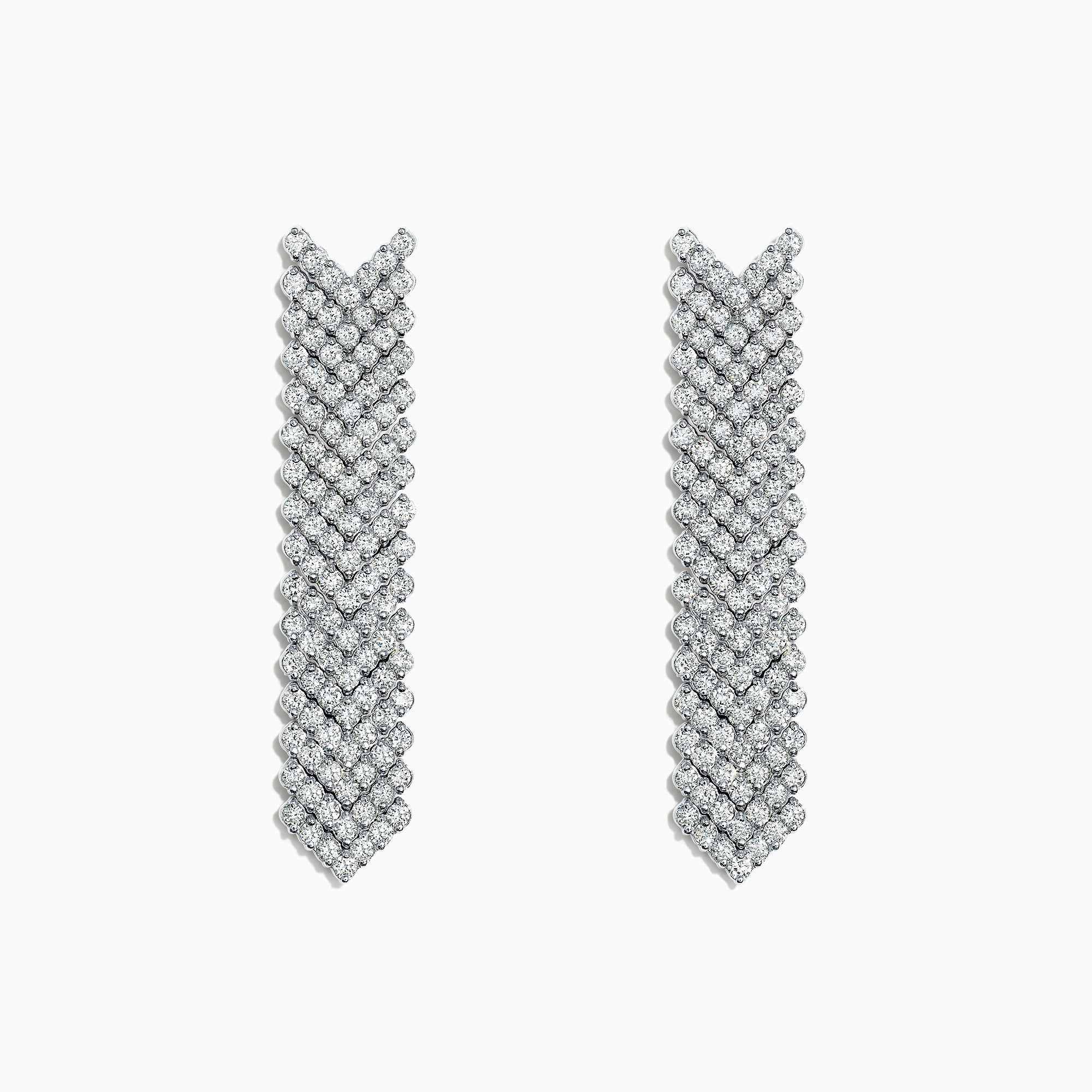 Effy Pave Classica 14K White Gold Diamond Drop Earrings, 2.74 TCW