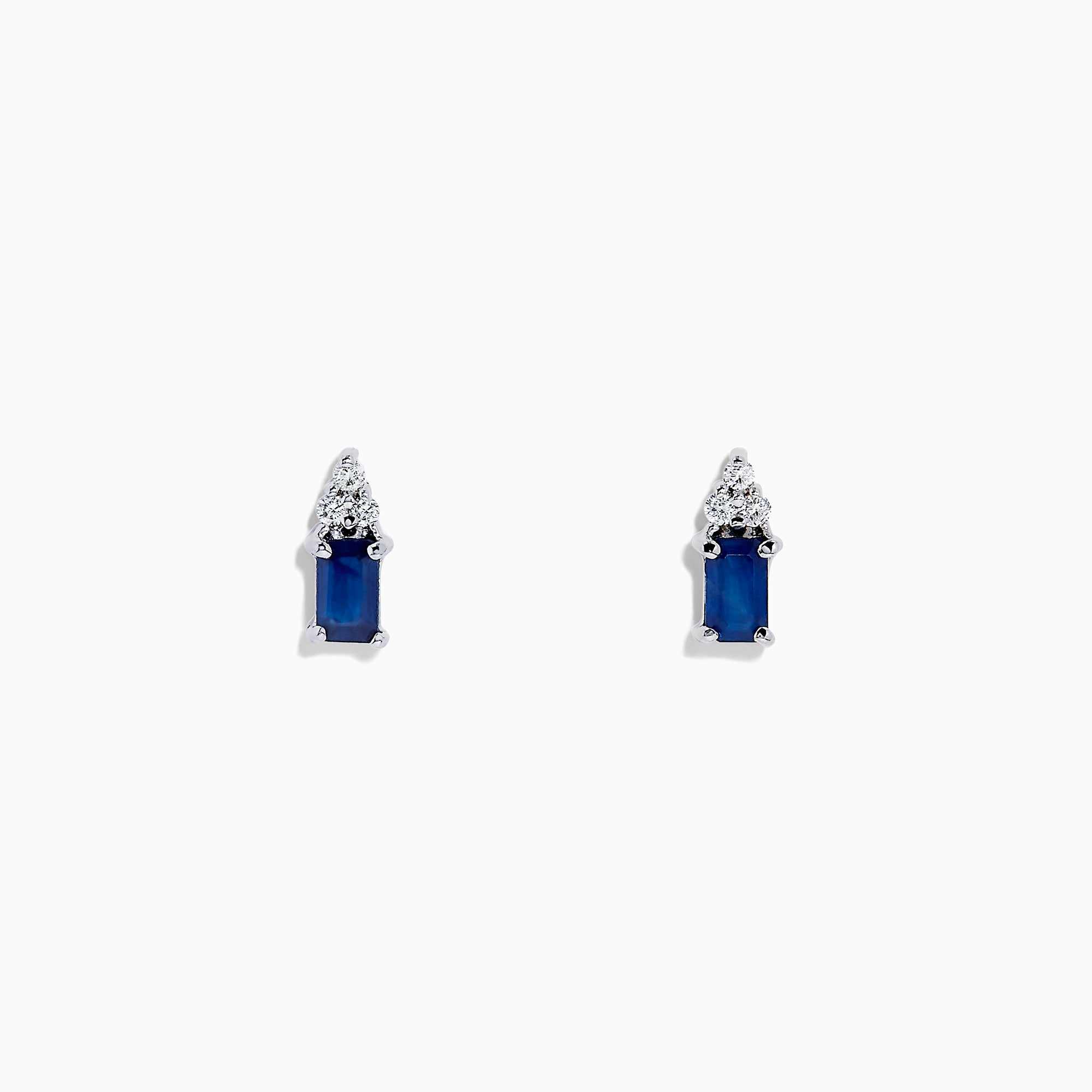 Effy 14K White Gold Sapphire and Diamond Earrings, 0.85 TCW