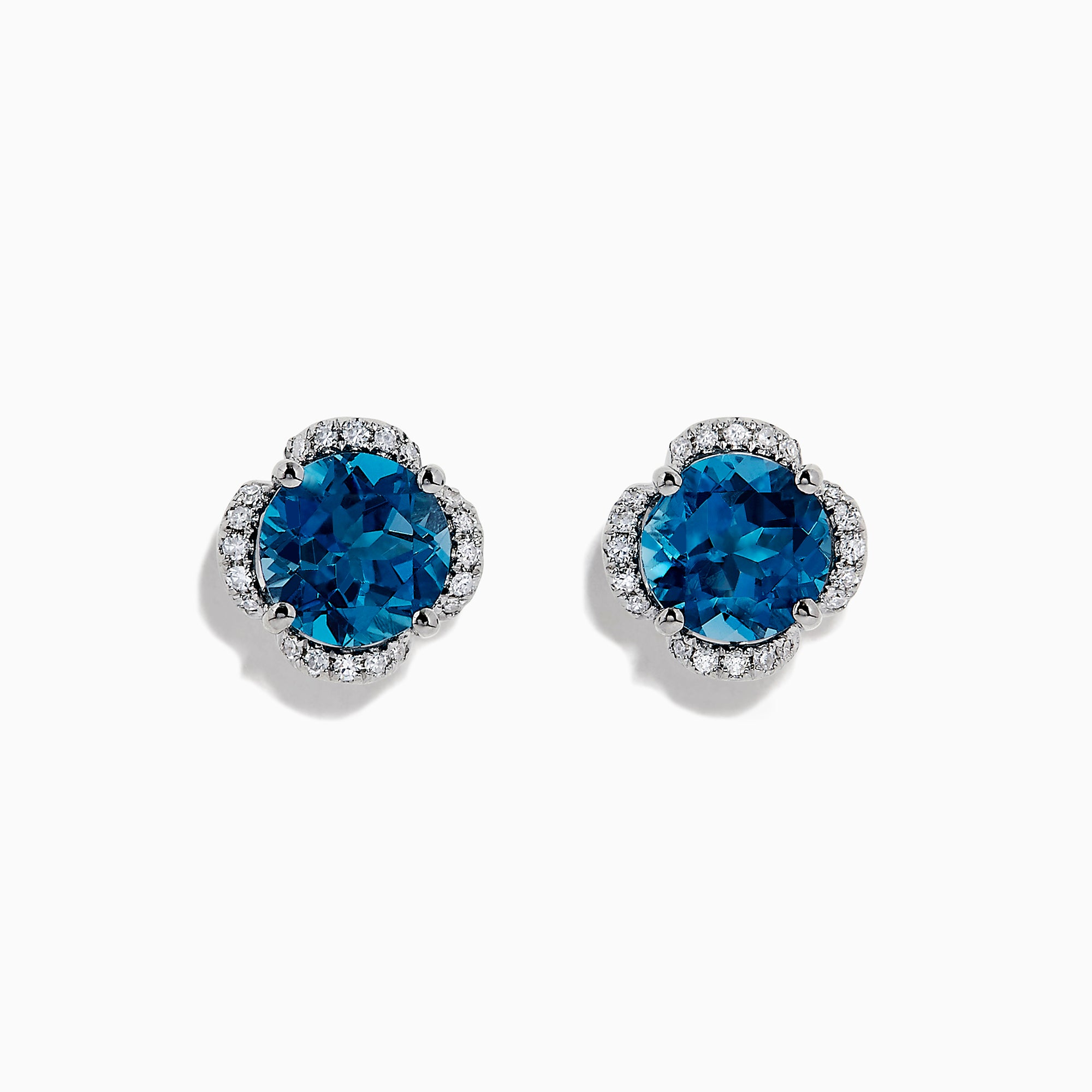 Effy Ocean Bleu 14K Gold London Blue Topaz and Diamond Earrings, 4.25 TCW