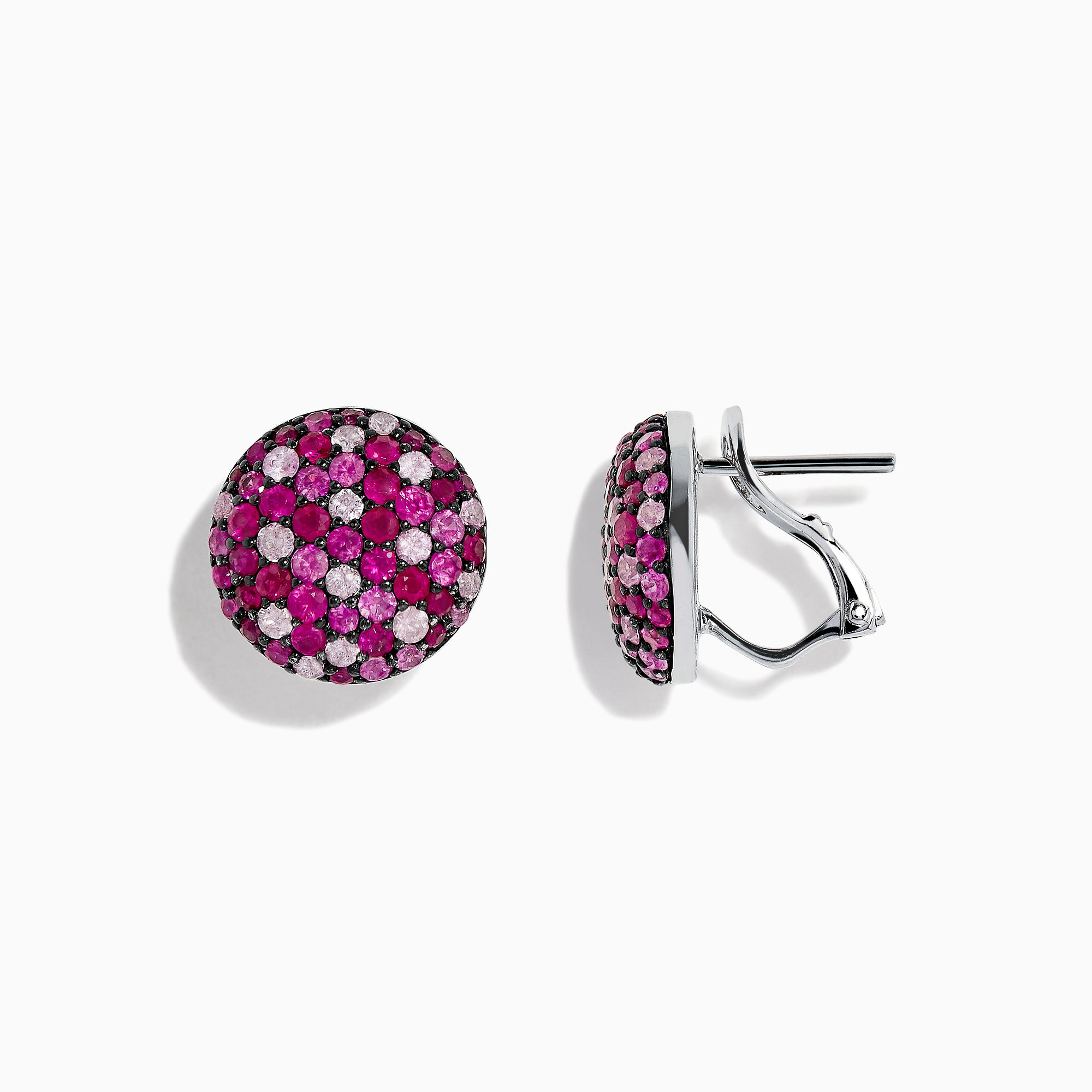 Effy Splash Sterling Silver Pink Sapphire Circle Earrings, 3.60 TCW