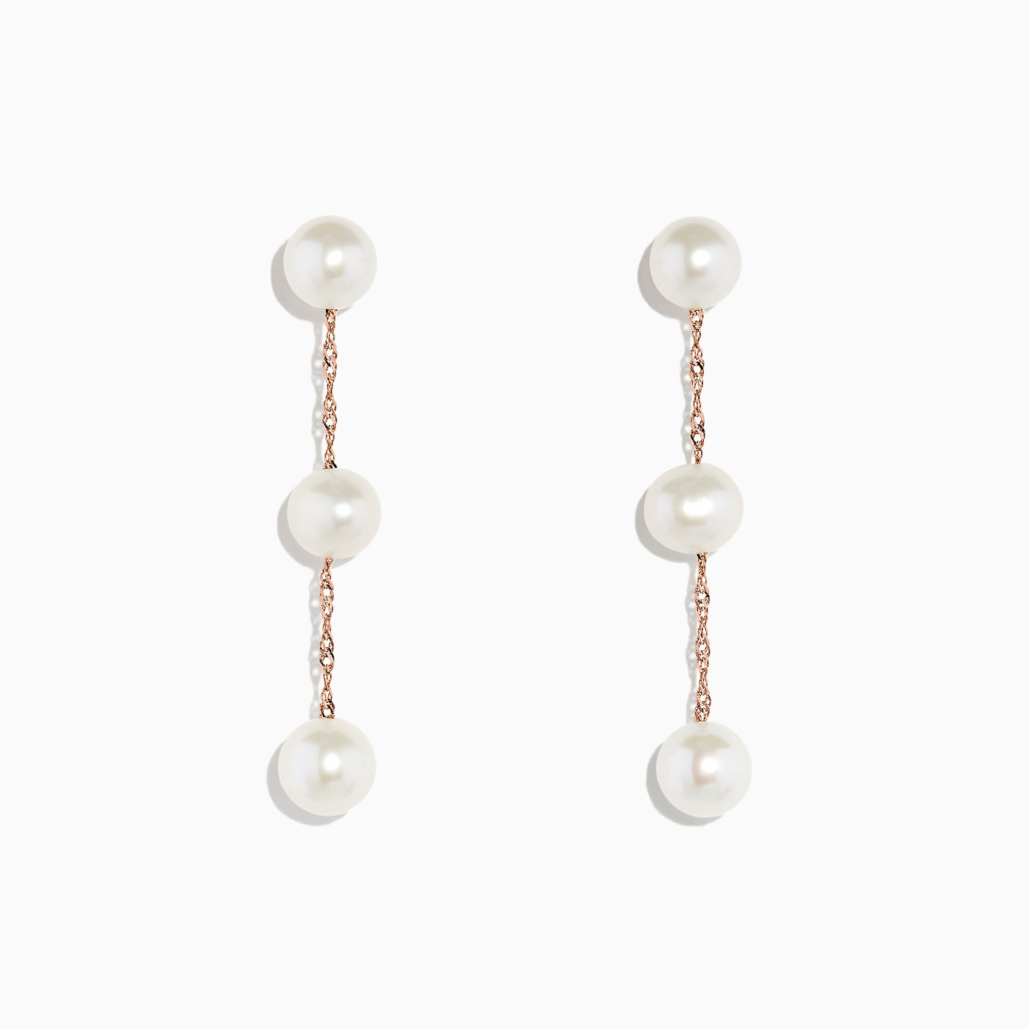 Effy 14K Rose Gold Cultured Fresh Water Pearl Drop Earrings