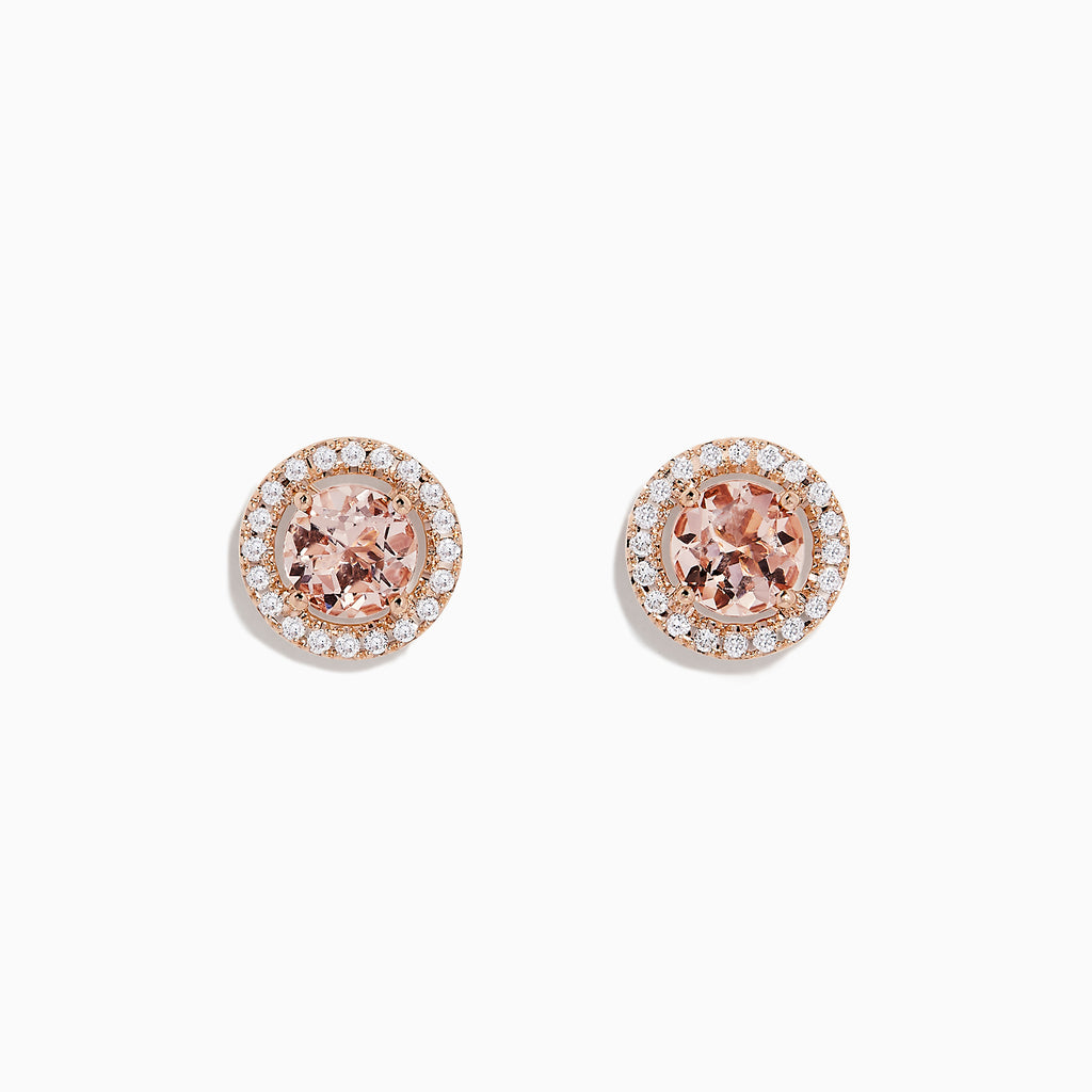 Effy Blush 14K Rose Gold Morganite and Diamond Earrings, 1.66 TCW
