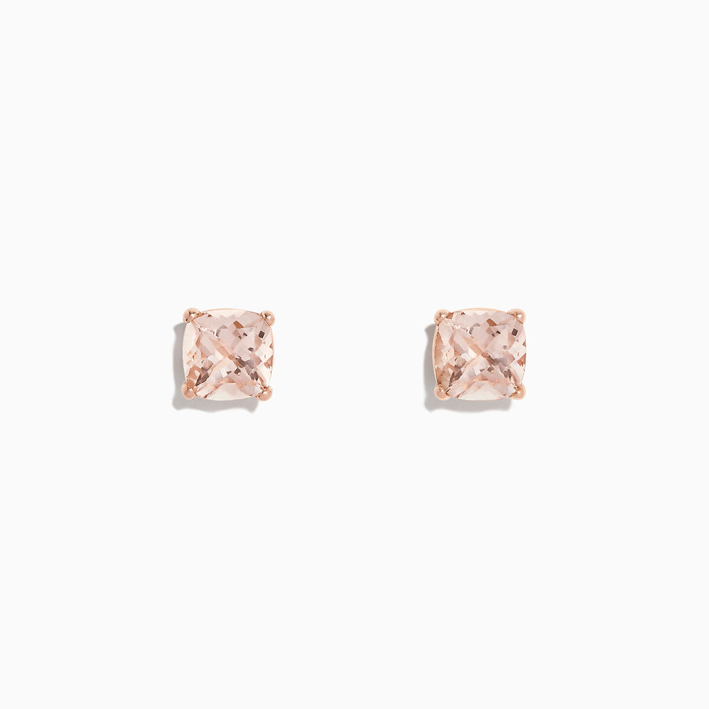 Effy 14K Rose Gold Morganite Stud Earrings, 2.40 TCW