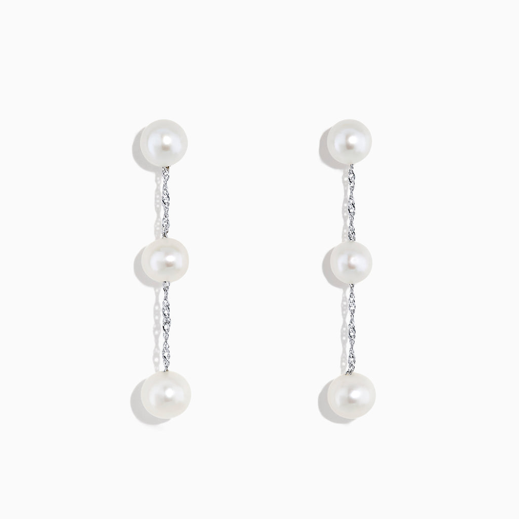 Effy 14K White Gold Cultured Fresh Water Pearl Drop Earrings