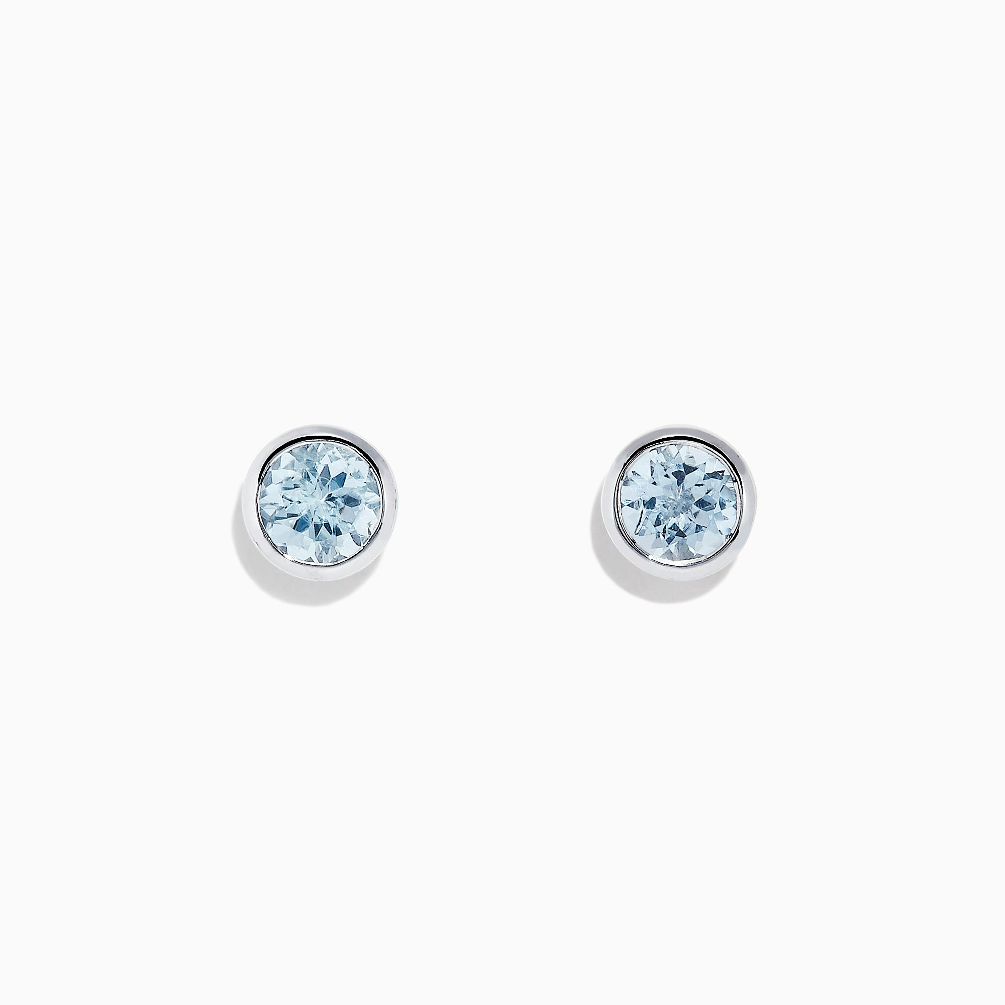 Effy Aquarius 14K White Gold Aquamarine Stud Earrings, 0.90 TCW