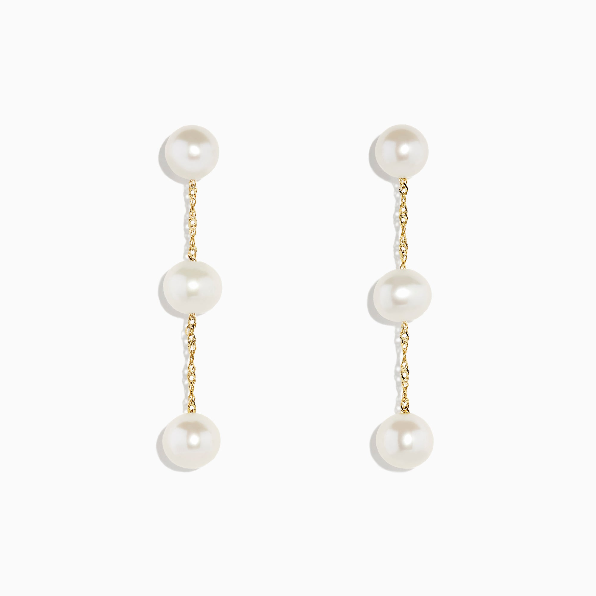 Effy 14K Yellow Gold Cultured Fresh Water Pearl Drop Earrings