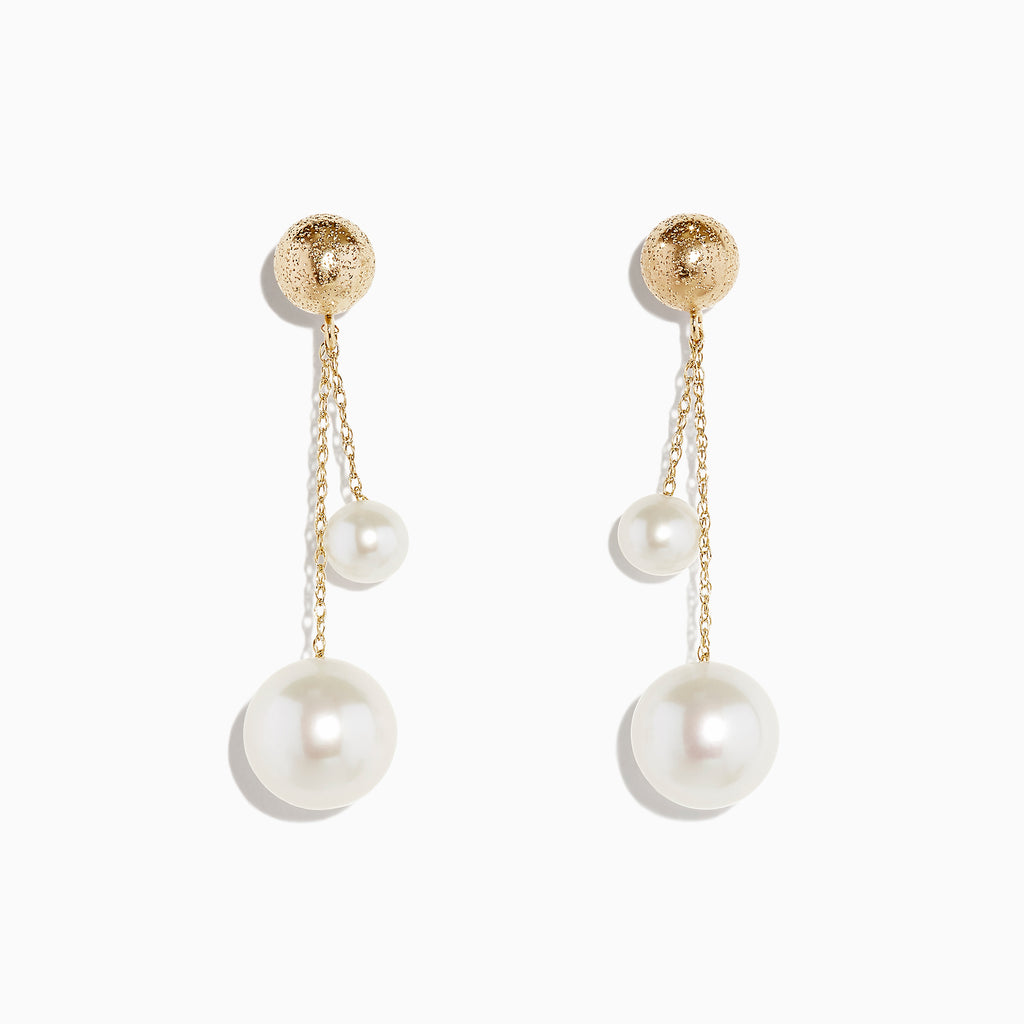 Effy 14K Yellow Gold Cultured Fresh Water Peal Drop Earring