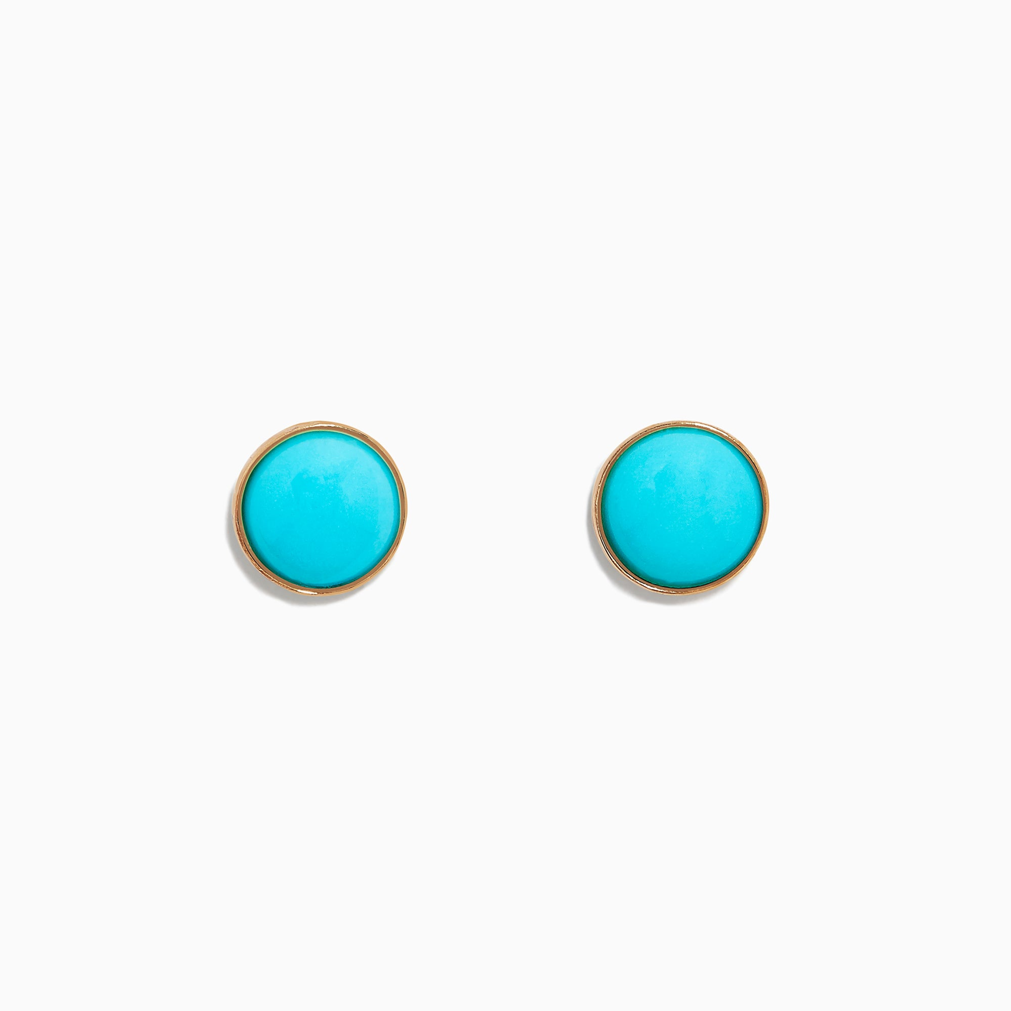 Effy 14K Yellow Gold Turquoise Stud Earrings, 1.10 TCW