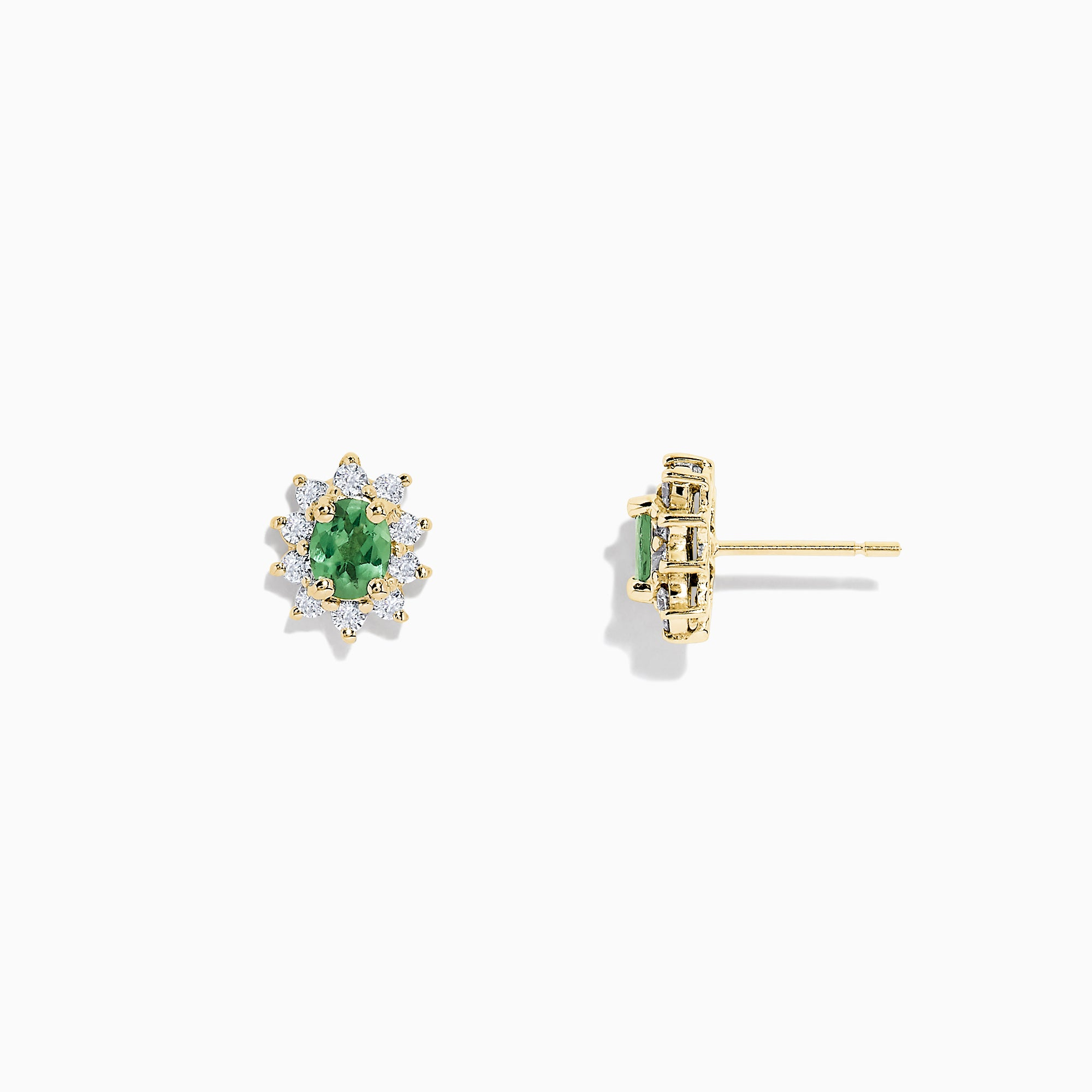 Effy 14K Yellow Gold Alexandrite and Diamond Earrings, 1.05 TCW