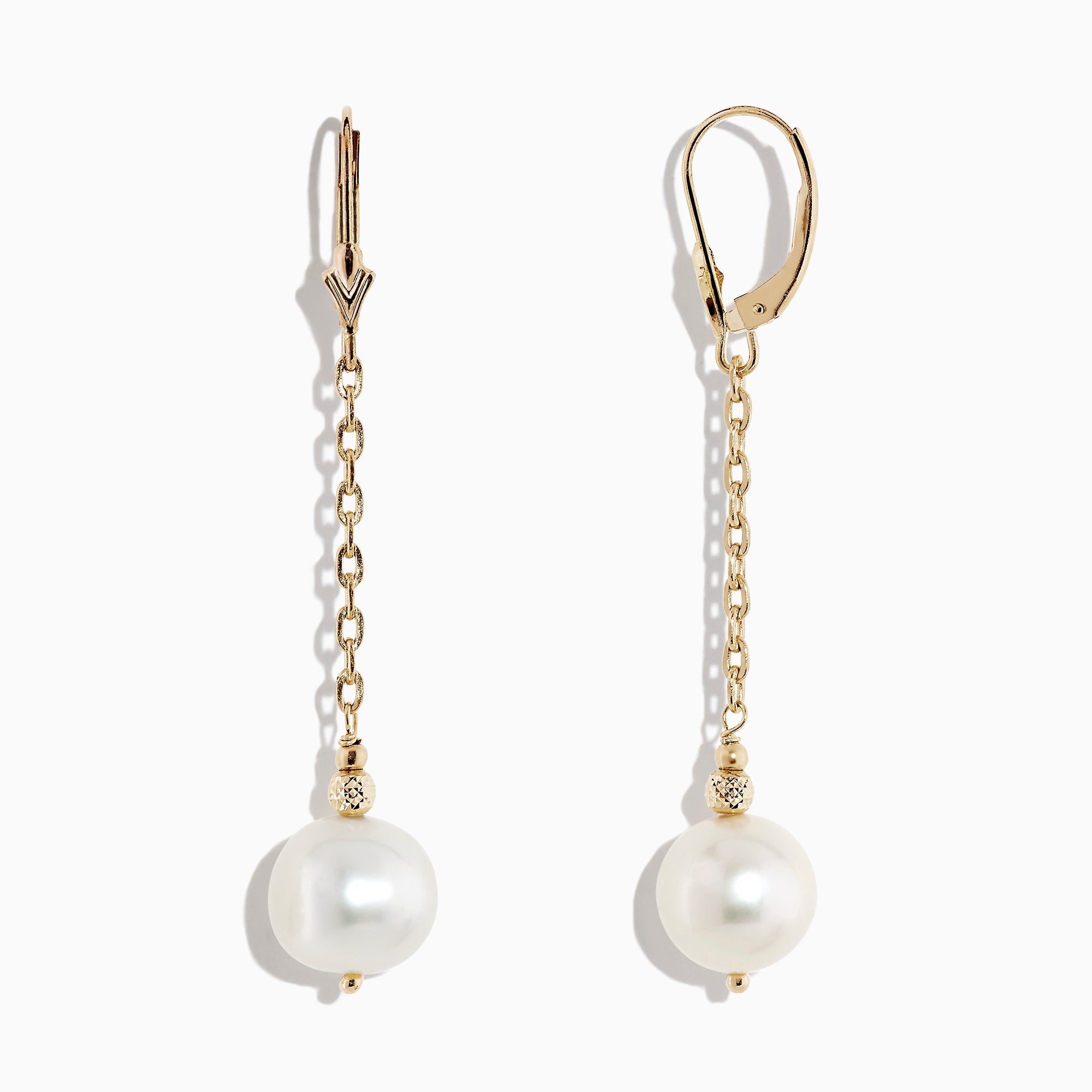 Effy 14K Yellow Gold Cultured Freshwater Pearl Earrings