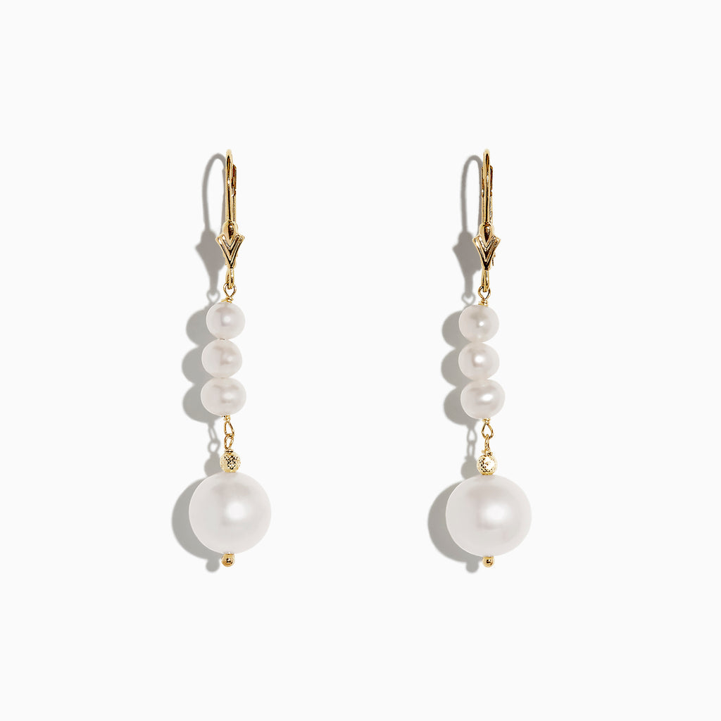 Effy 14K Yellow Gold Pearl Drop Earrings