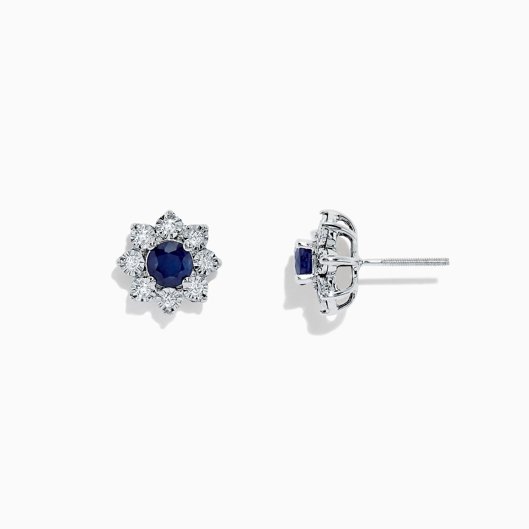 Effy Royale Bleu 14K White Gold Sapphire and Diamond Earrings, 1.44 TCW