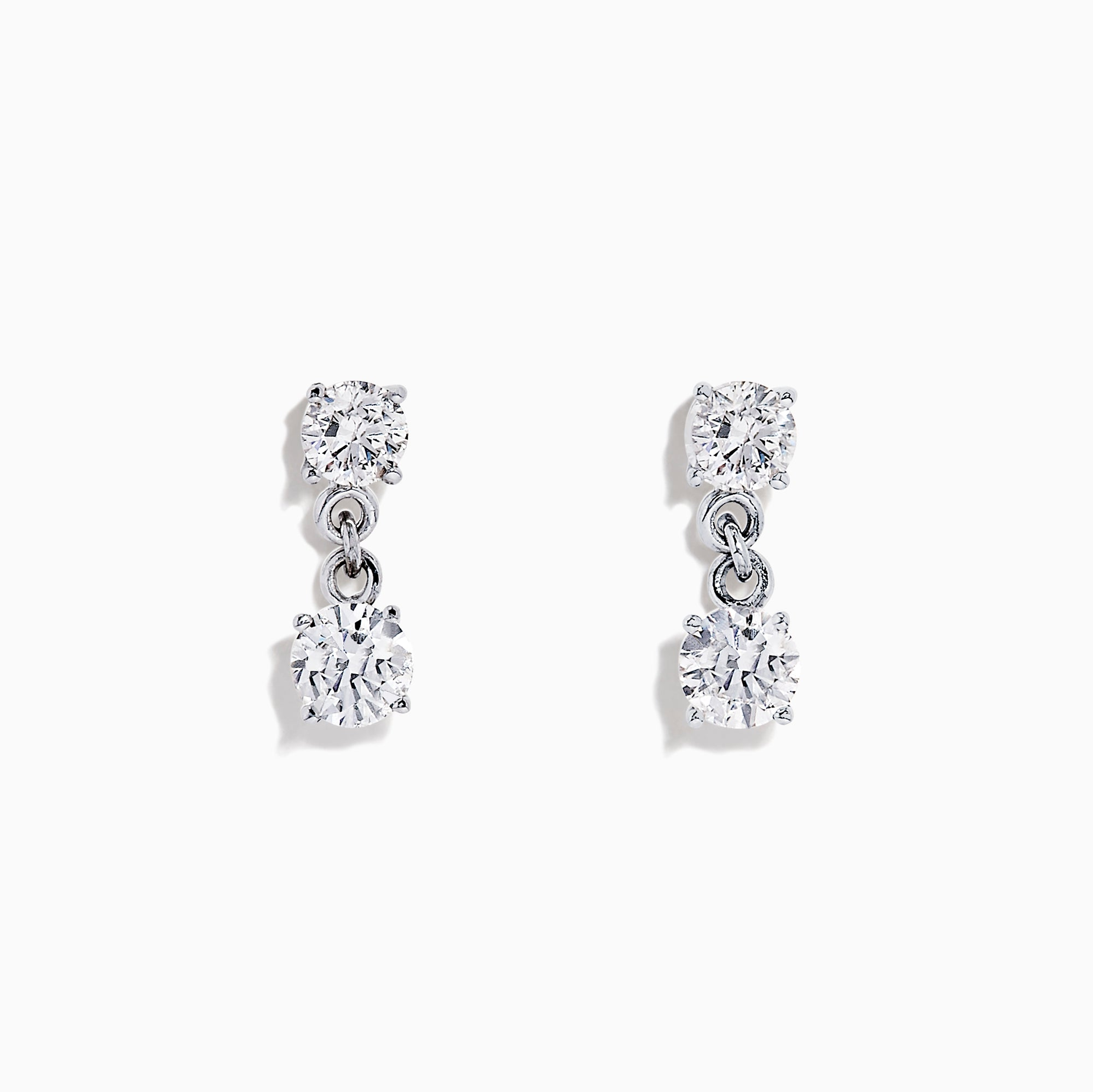 Effy 14K White Gold Diamond Earrings, 0.98 TCW