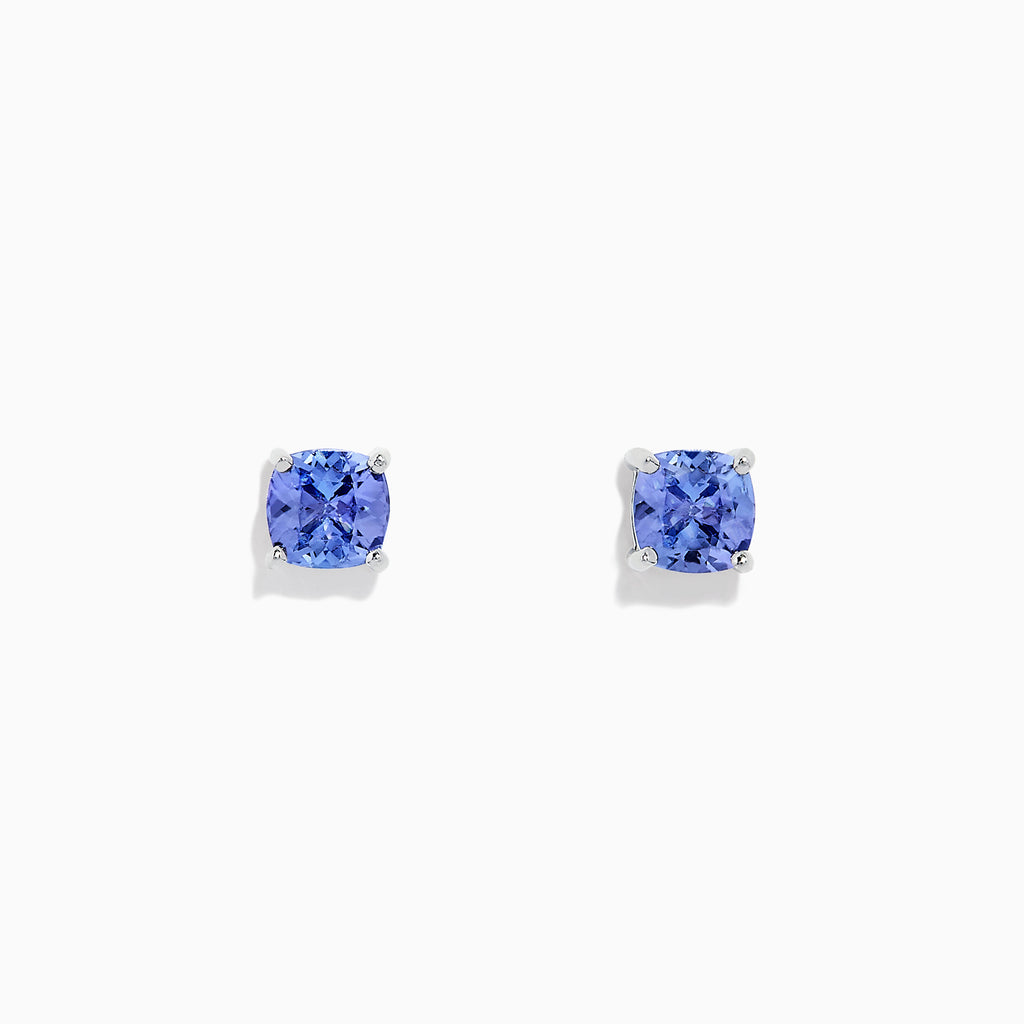 Effy Tanzanite Royale Sterling Silver Tanzanite Stud Earrings, 0.95 TCW