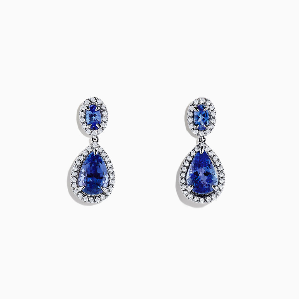 Effy Tanzanite Royale 14K Gold Tanzanite and Diamond Earrings, 2.90 TCW