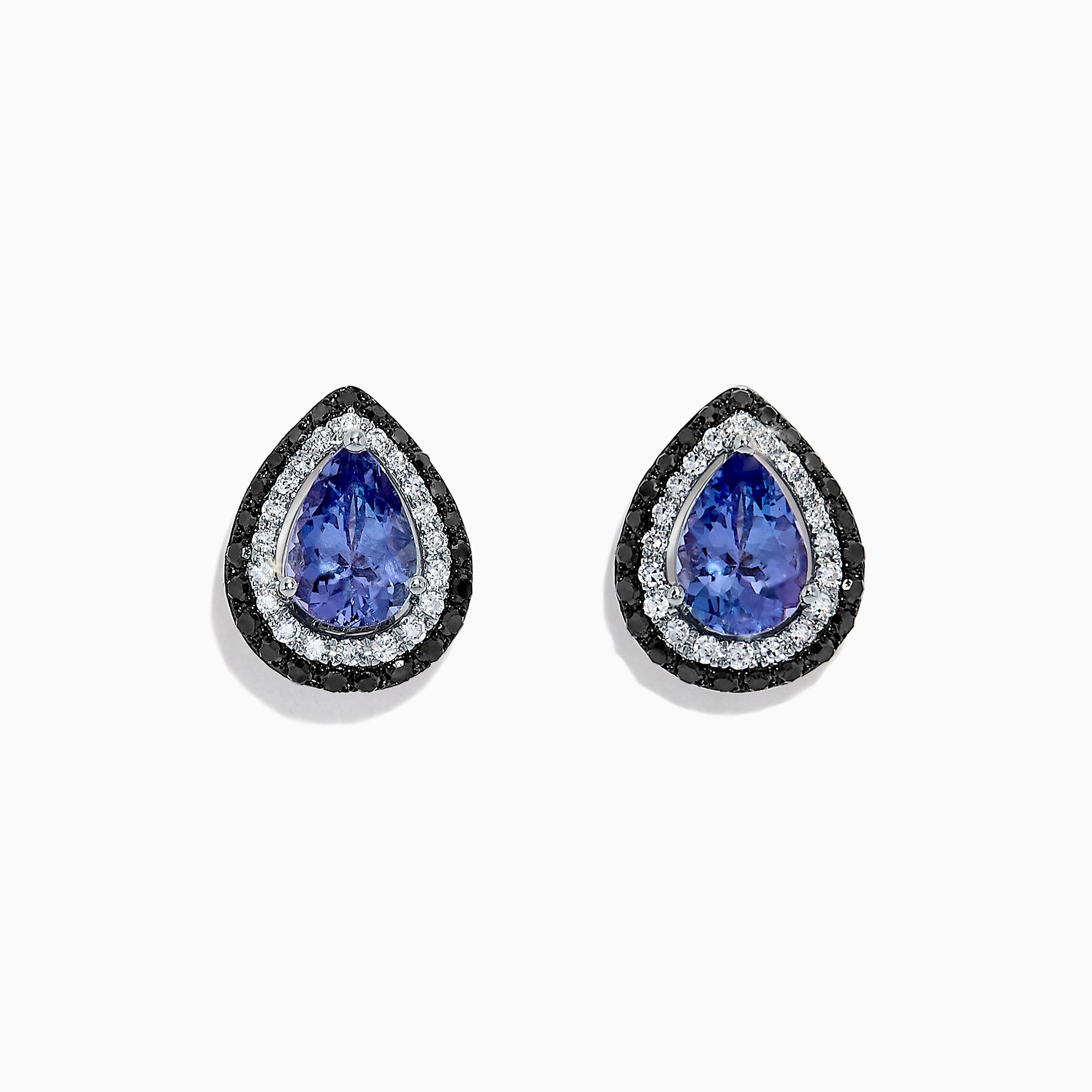 Effy Tanzanite Royale 14K Gold Tanzanite and Diamond Earrings, 1.54 TCW