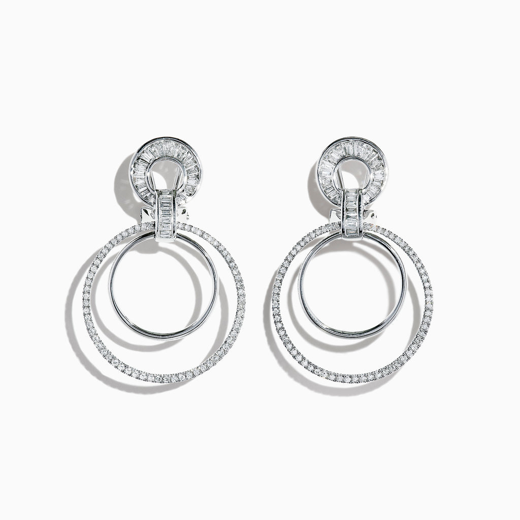 Effy Classique 14K White Gold Diamond Drop Earrings, 1.12 TCW