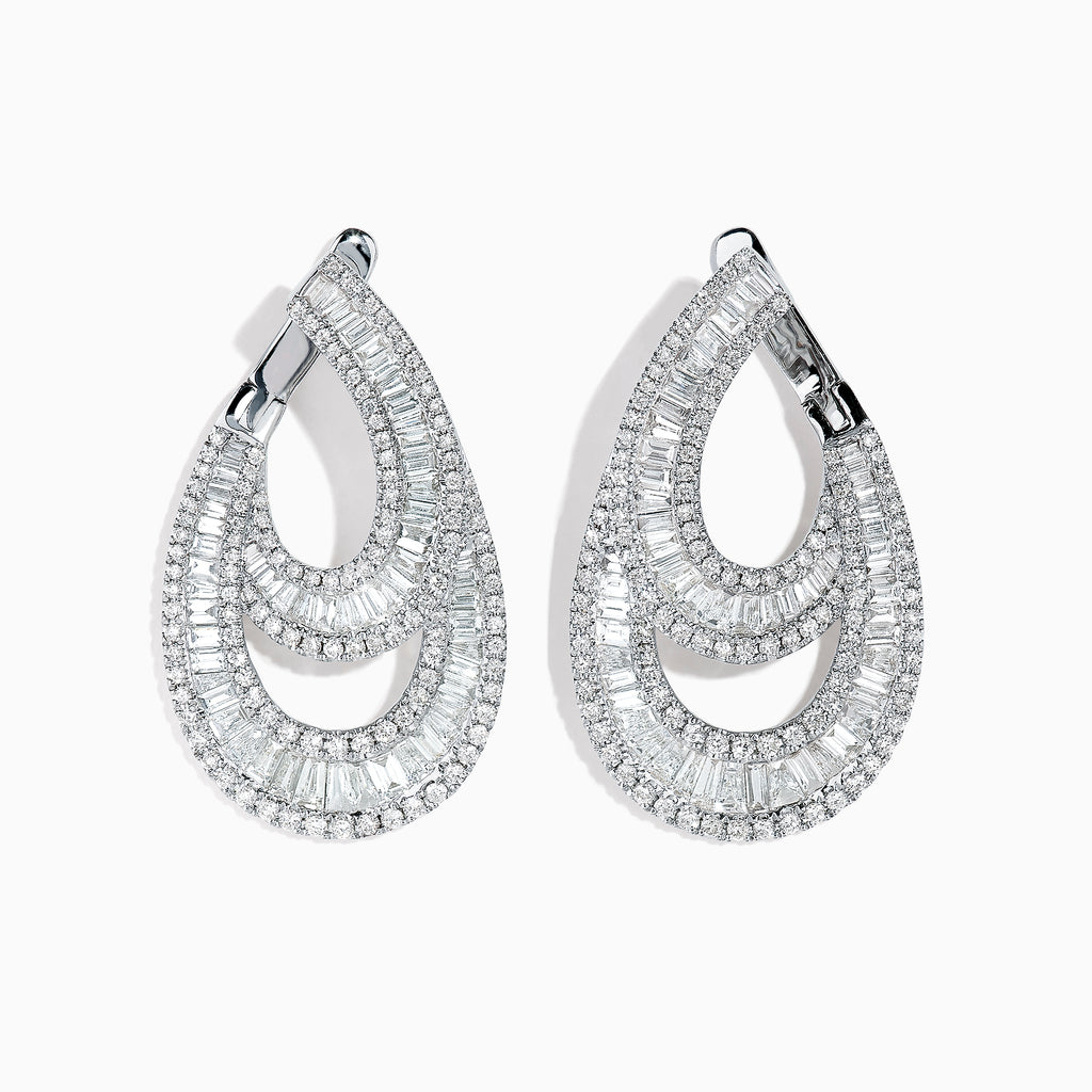 Effy Classique 14K White Gold Diamond Earrings, 3.26 TCW