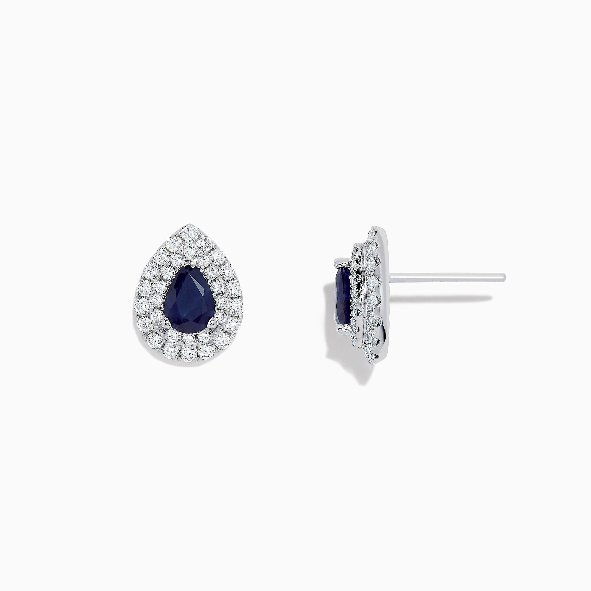 Effy Royale Bleu 14K White Gold Sapphire and Diamond Earrings, 2.23 TCW