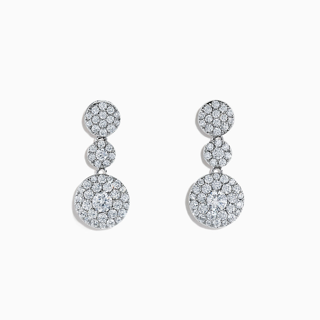 Effy Bouquet 14K White Gold Diamond Drop Earrings, 1.29 TCW