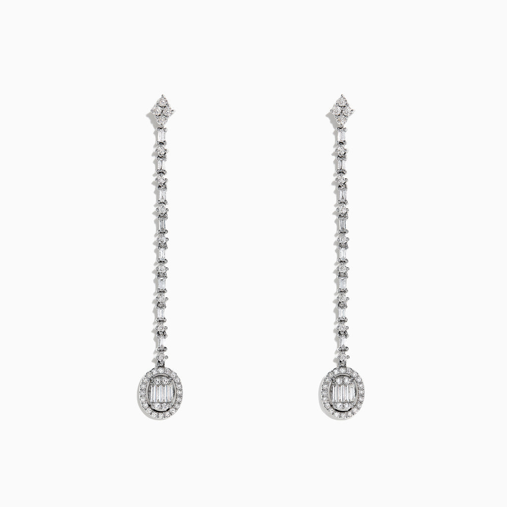 Effy Classique 14K White Gold Diamond Drop Earrings, 0.72 TCW