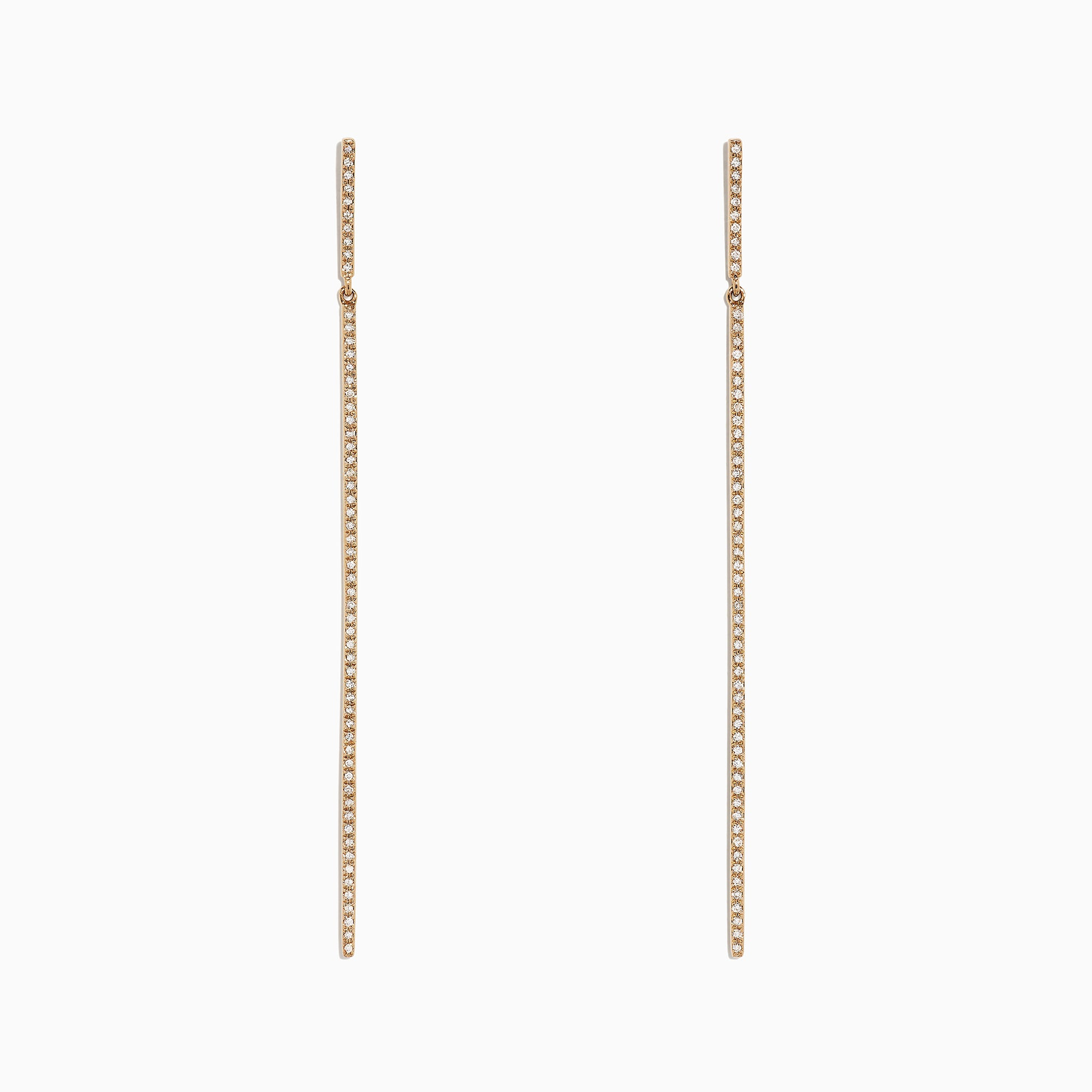 Effy D'Oro 14K Yellow Gold Diamond Vertical Earrings, 0.35 TCW