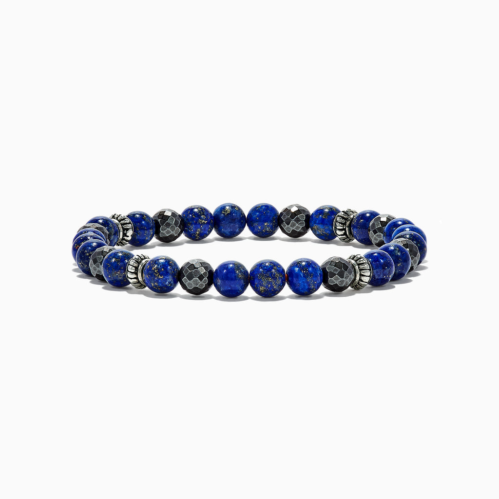 "Effy Men's Lapis Lazuli and Hematite Beaded 7"" Bracelet, 60.00 TW"