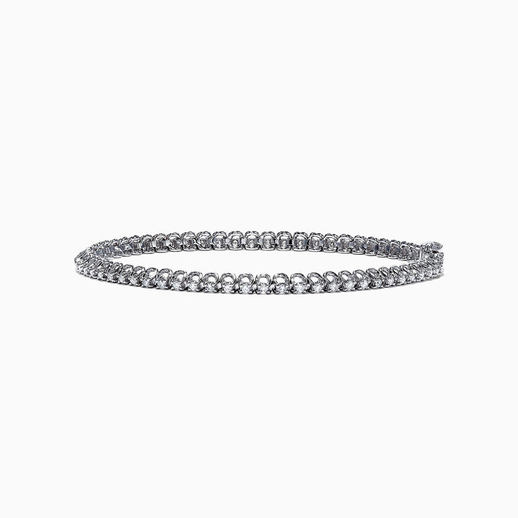 Effy 14K White Gold Diamond Tennis Bracelet, 0.94 TCW