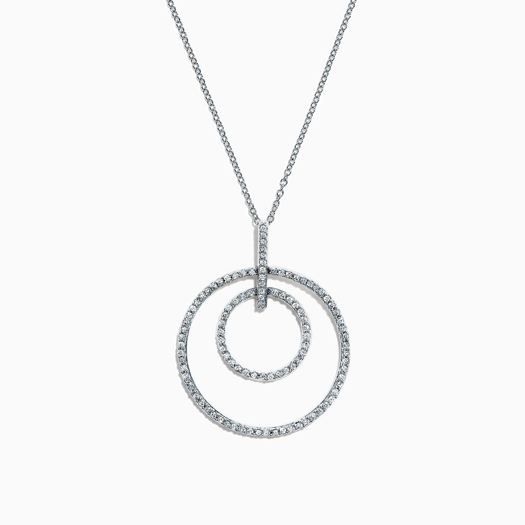 Effy 14K White Gold Diamond Circles Pendant, 0.51 TCW