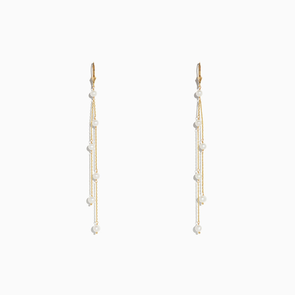 Effy 14K Yellow Gold Cultured Fresh Water Pearl Fringe Earrings