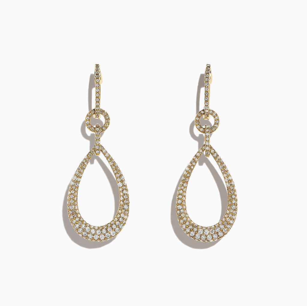 Effy 14K Yellow Gold Diamond Drop Earrings, 1.50 TCW