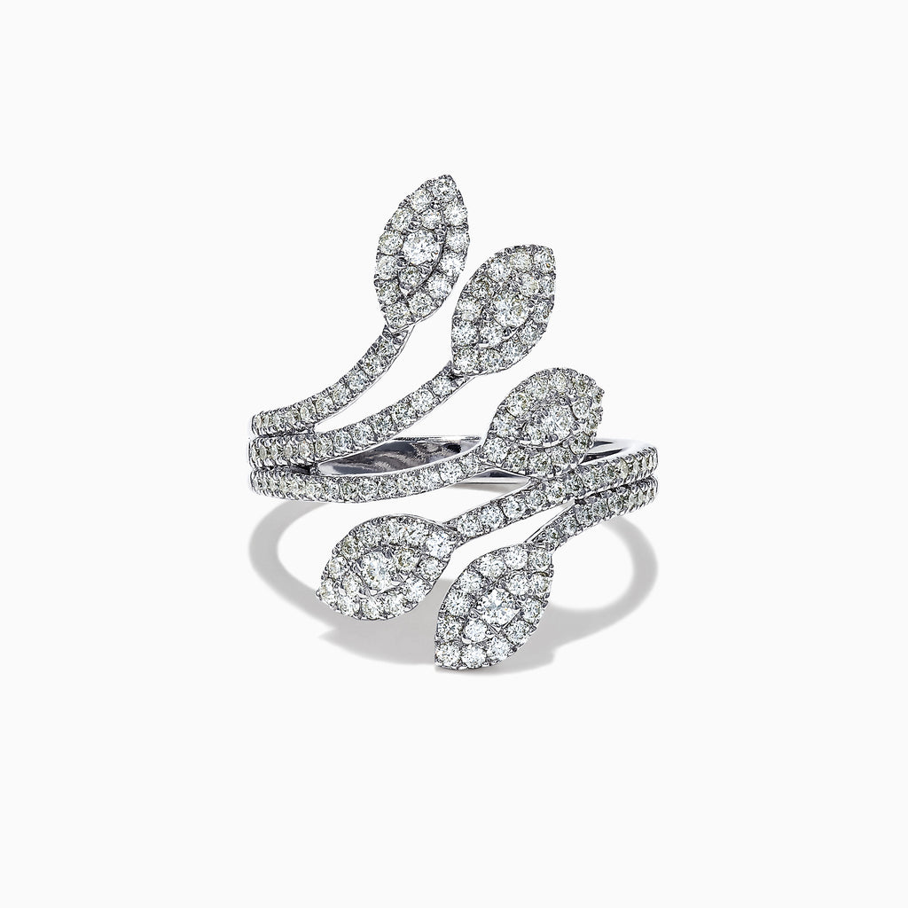 Effy 14K White Gold Diamond Vine Ring, 0.91 TCW