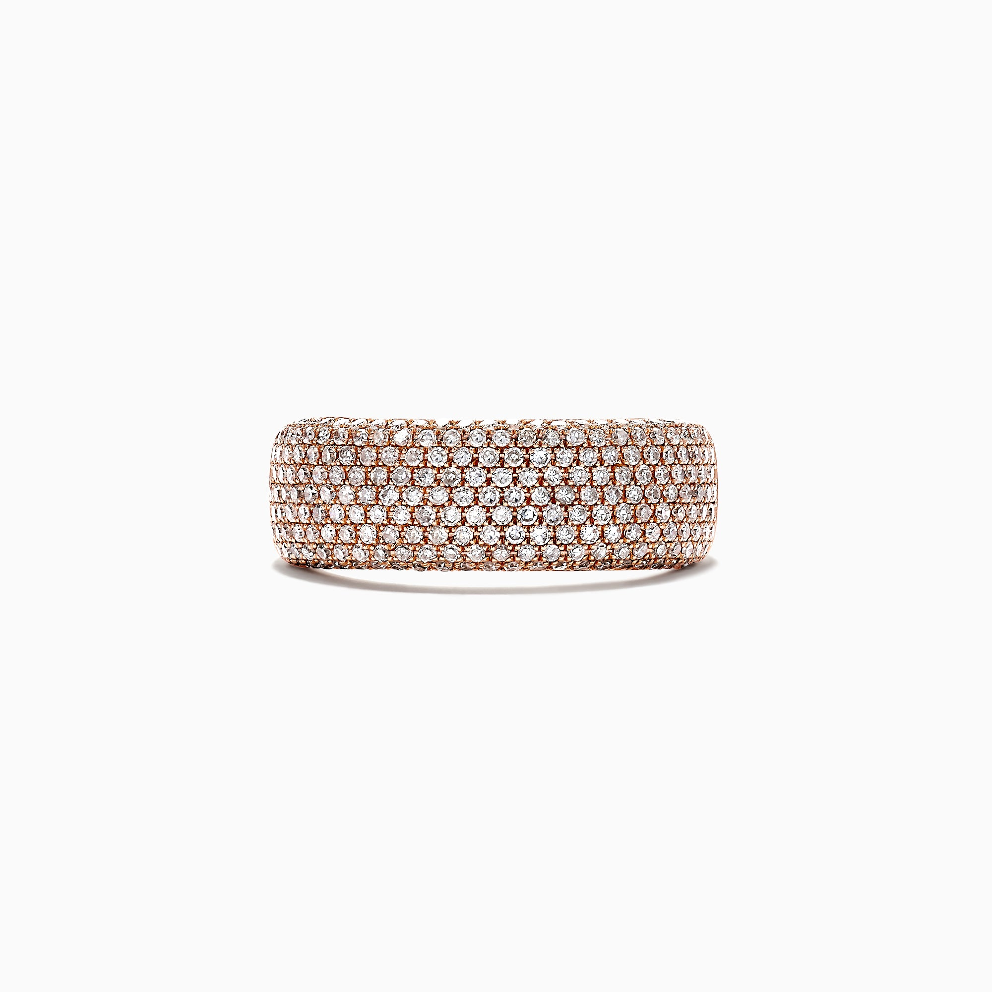 Effy 14K Rose Gold Diamond Pave Ring, 0.99 TCW