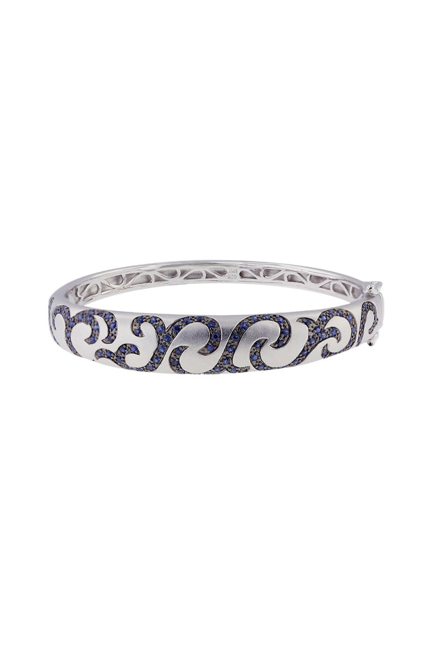 Effy 925 Sterling Silver Blue Sapphire Bangle, 2.18 TCW