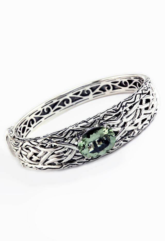 Effy 925 Lagoon Green Amethyst Bangle, 8.17 TCW