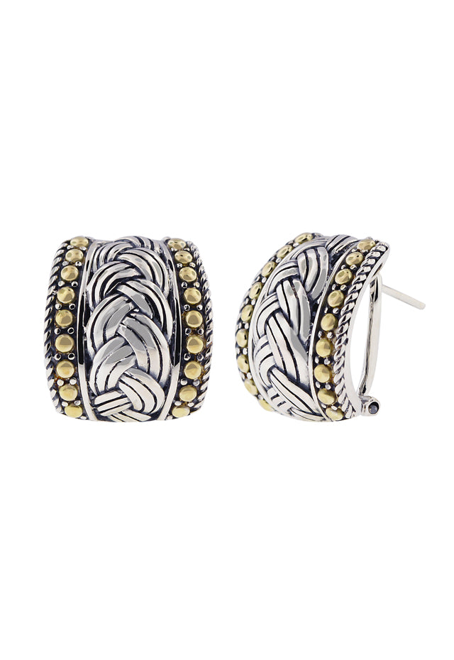 Effy 925 Classic Sterling Silver and 18K Yellow Gold Earrings