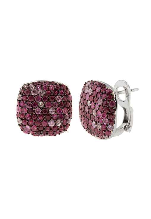 Balissima Ruby and Pink Sapphire Earrings, 3.71 TCW