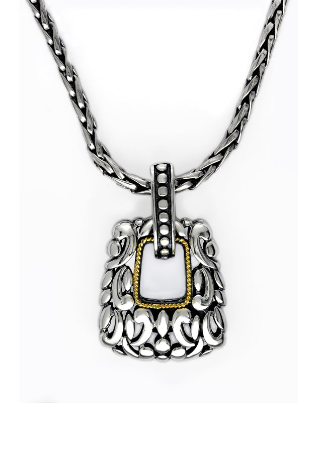 Effy 925 Sterling Silver and 18K Gold Pendant