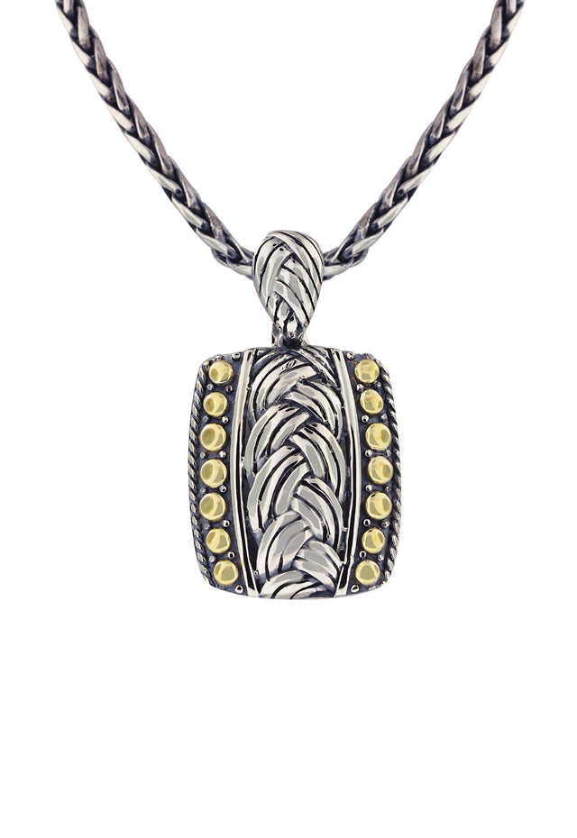 Effy 925 Classic Sterling Silver and 18K Yellow Gold Pendant