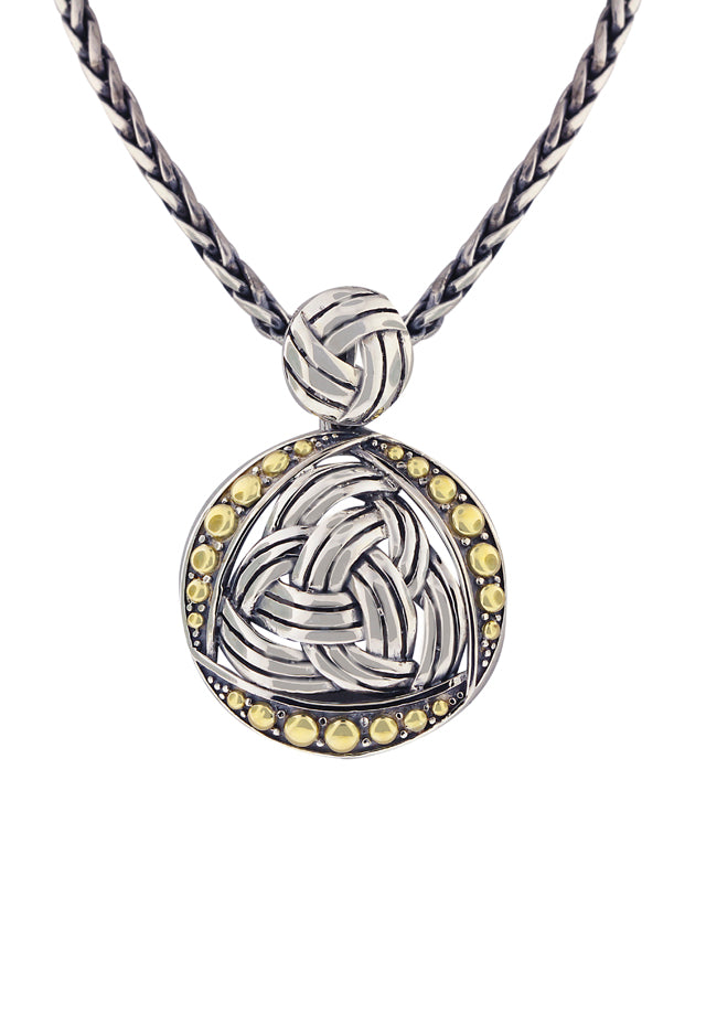 Effy 925 Classic Sterling Silver and 18K Yellow Gold Round Pendant