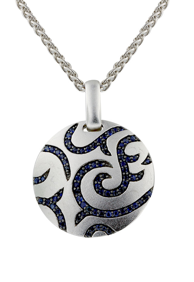 Effy 925 Sterling Silver Blue Sapphire Pendant, 1.82 TCW
