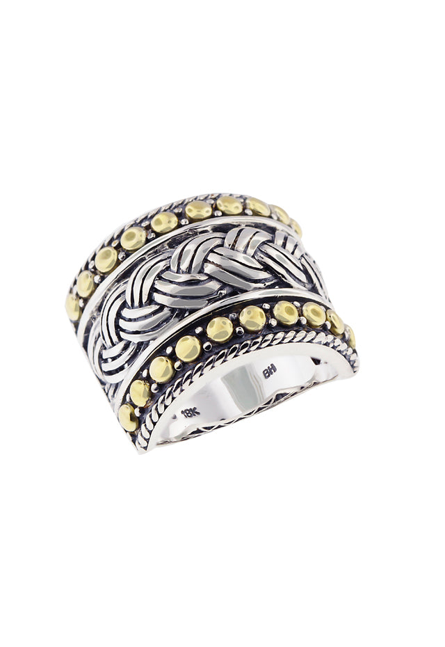Effy 925 Classic Sterling Silver and 18K Yellow Gold Ring