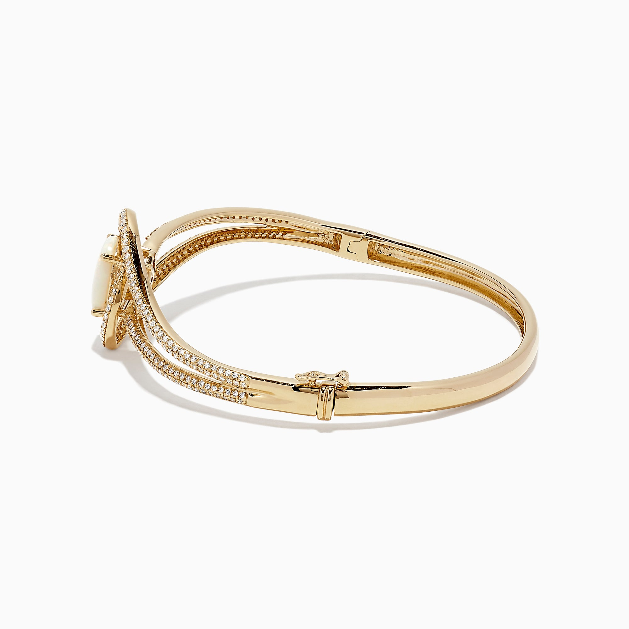 Effy Aurora 14K Yellow Gold Opal and Diamond Bangle, 3.00 TCW