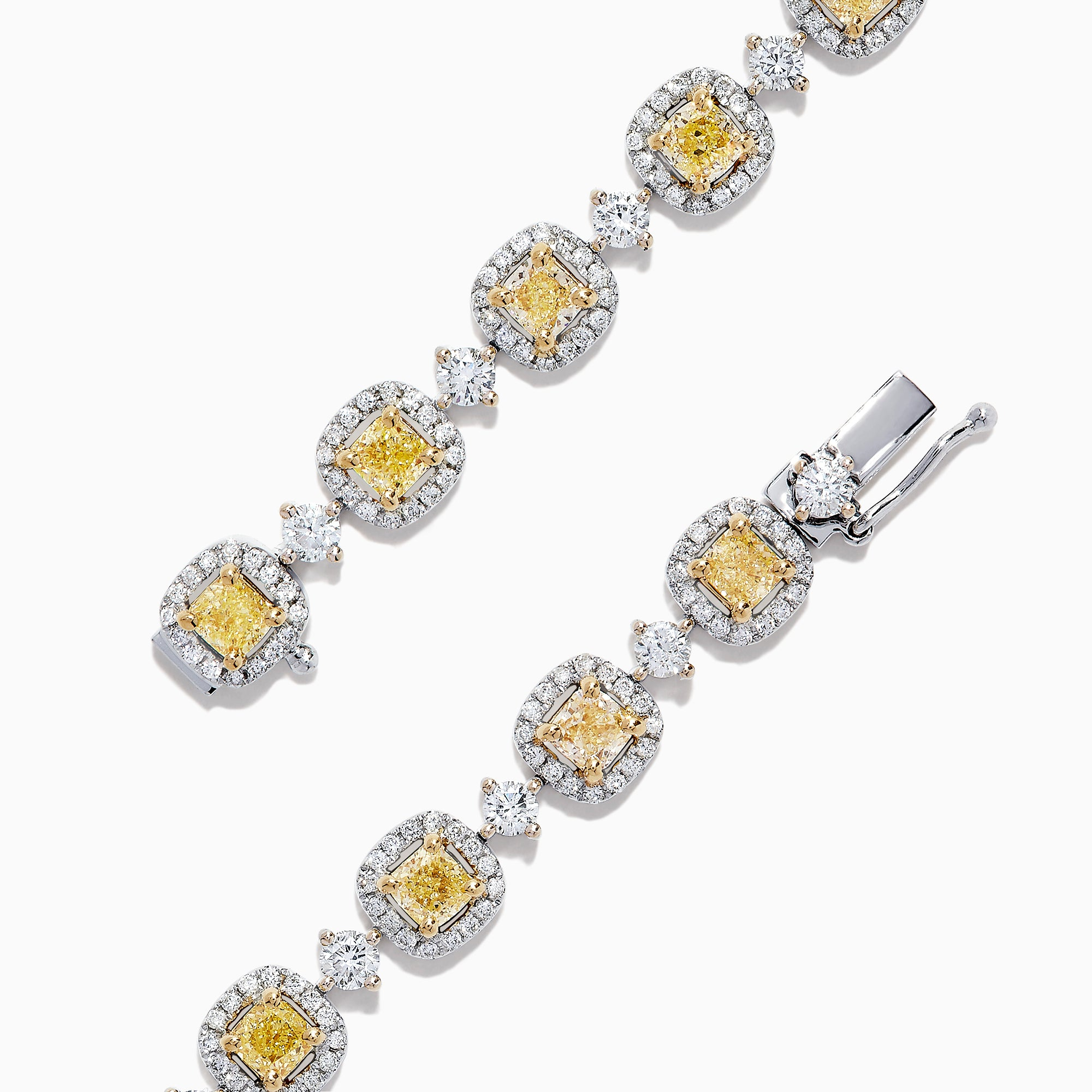 Effy Canare 18K Gold Yellow & White Diamond Tennis Bracelet, 4.71 TCW