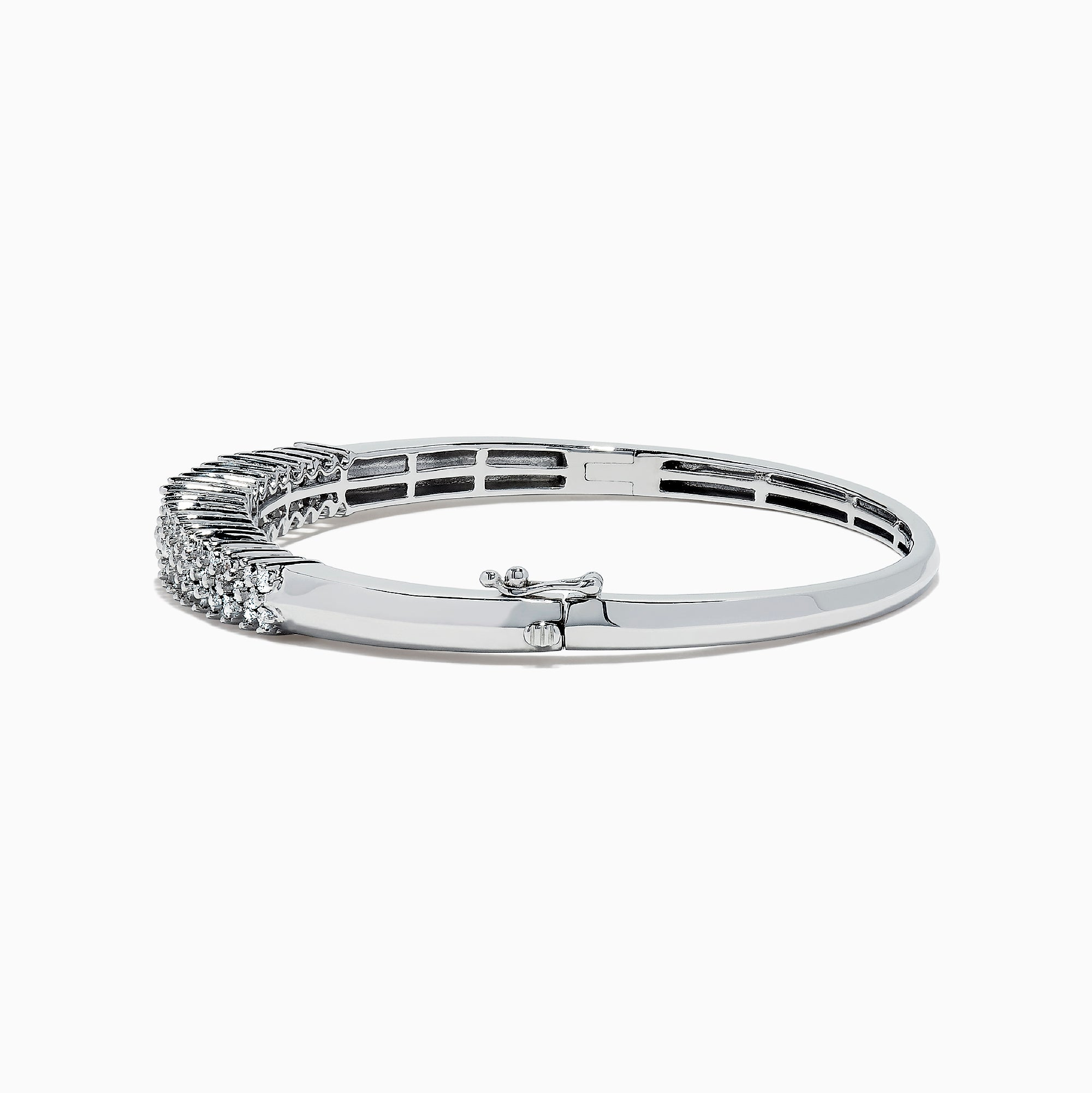 Effy 925 Sterling Silver Diamond Bangle, 0.50 TCW