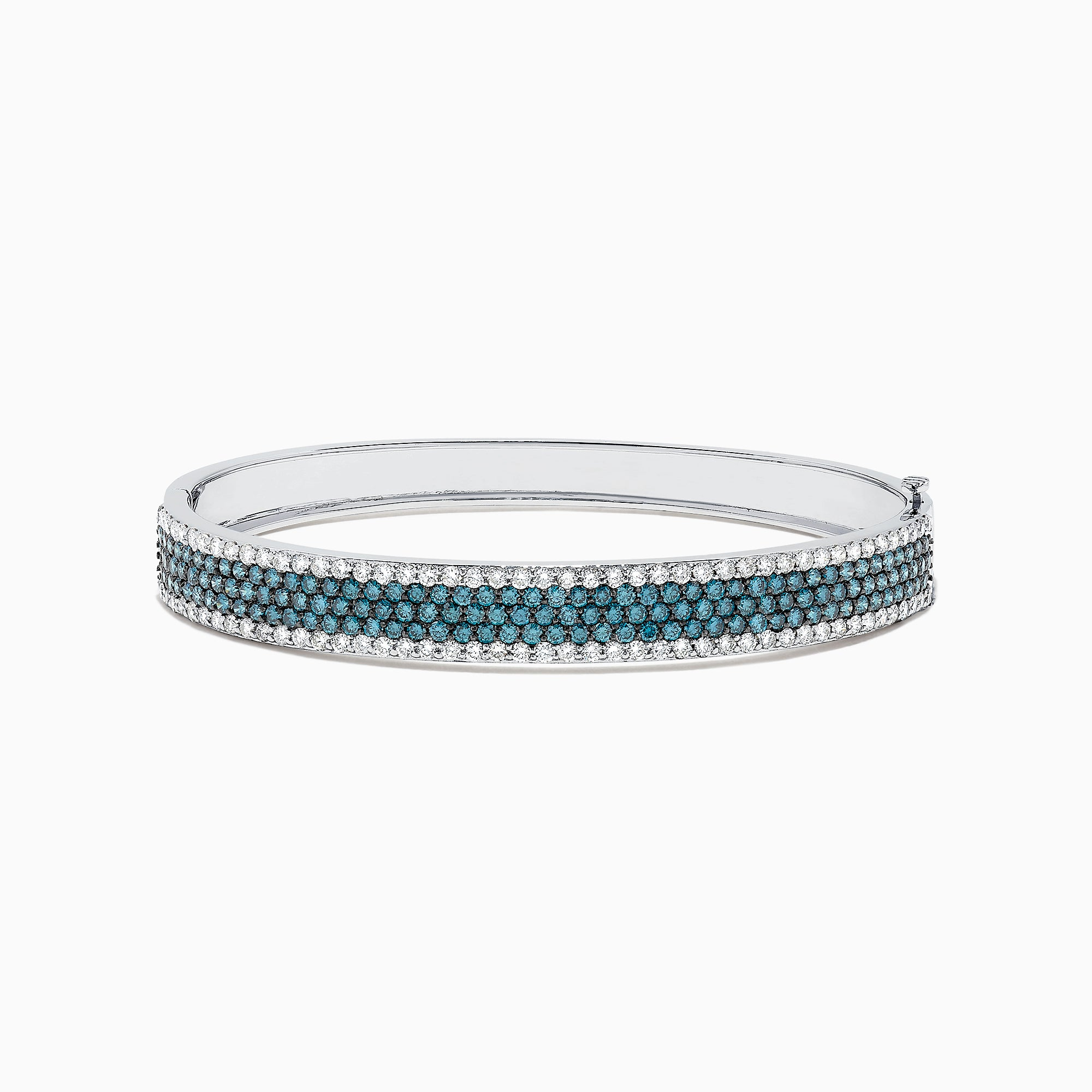 Effy Bella Bleu 14K White Gold Blue and White Diamond Bangle, 4.47 TCW