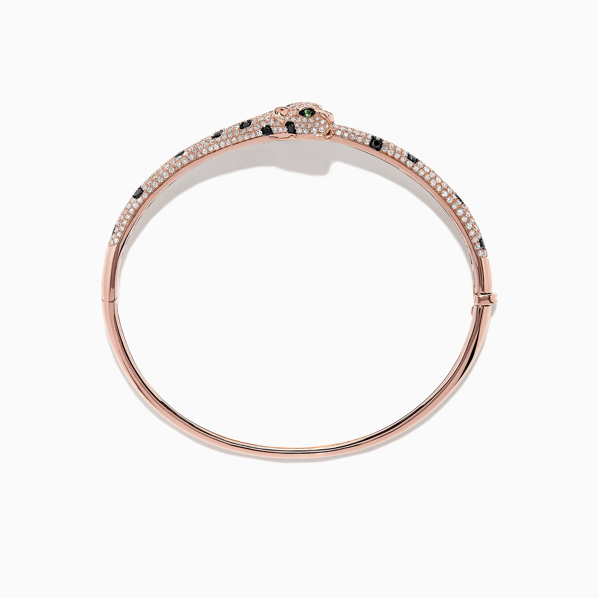 Effy Signature 14K Rose Gold Diamond Panther Bangle. 1.96 TCW