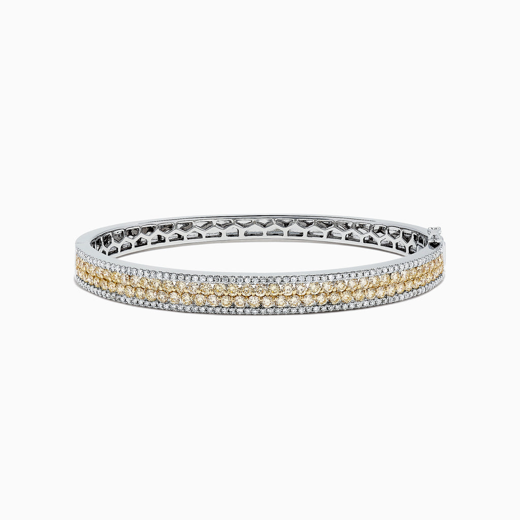 Effy Canare 14K Gold Yellow and White Diamond Bangle, 3.40 TCW